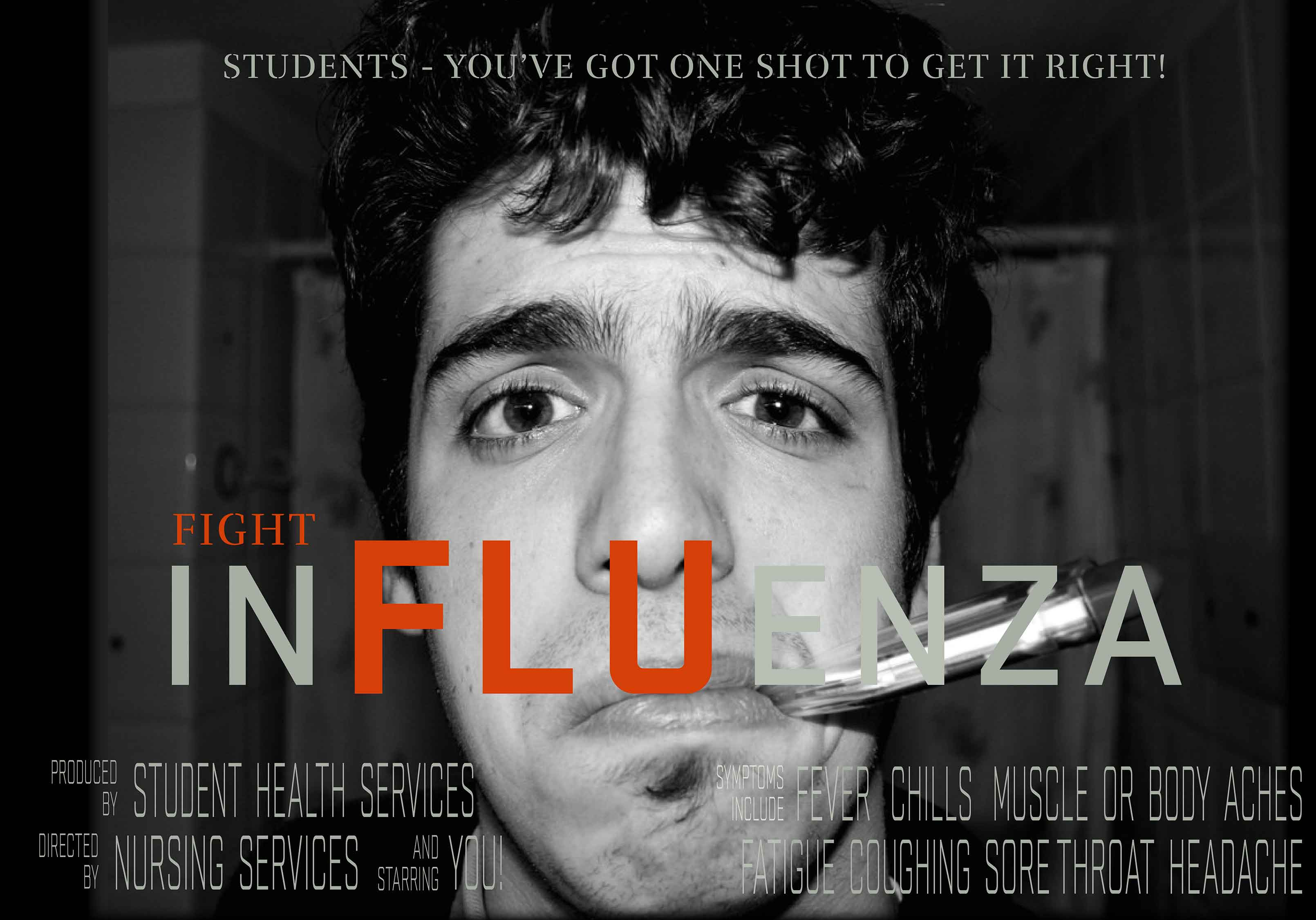 graphic that advertises the flu clinics