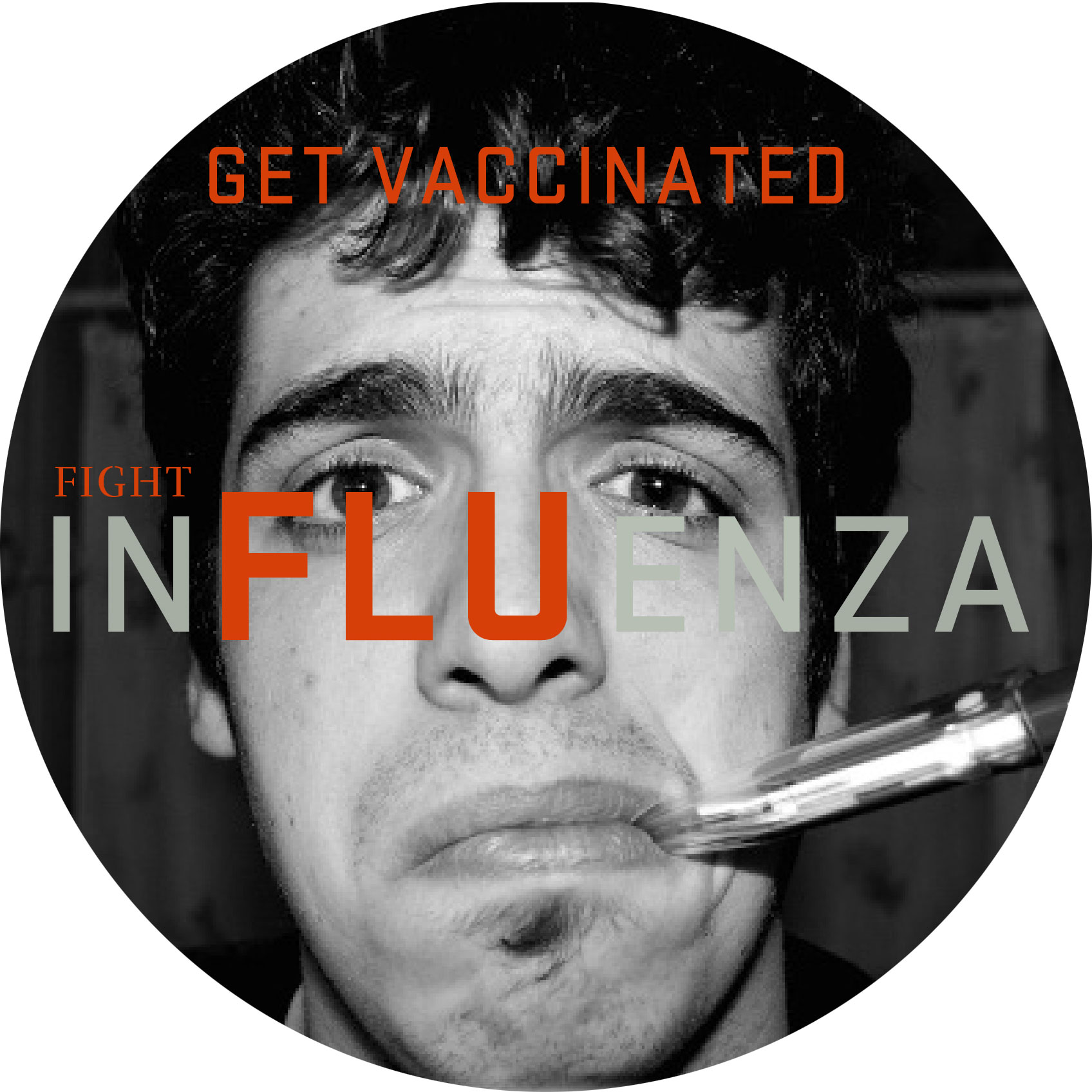 button that takes website visitors to our flu information page