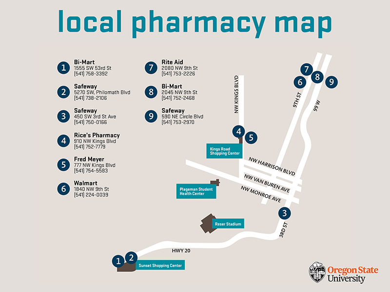 pharmacy map