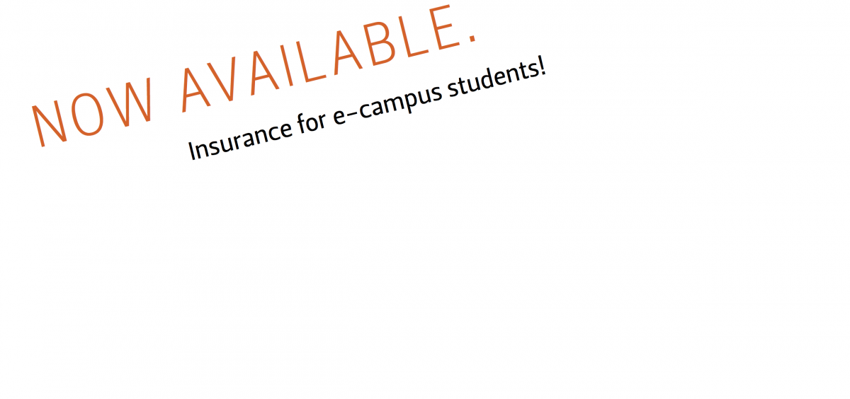E-campus insurance now available!