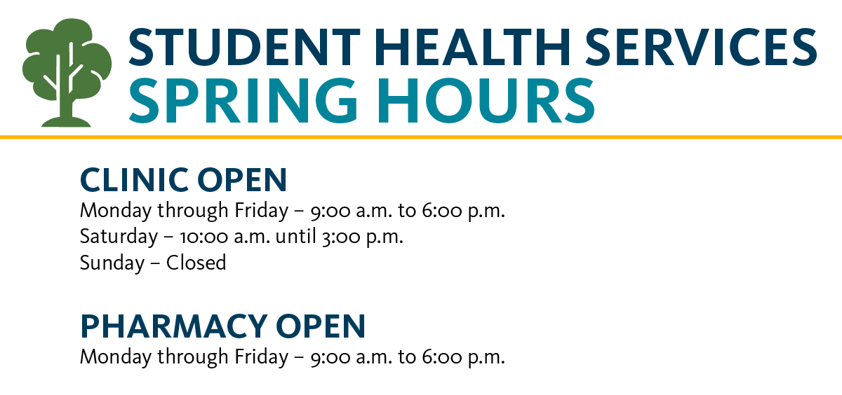Spring term hours graphic