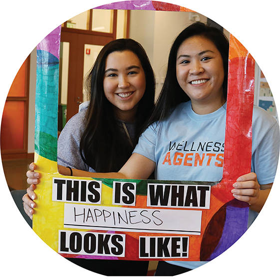 Wellness Agents are peer health and wellness leaders on campus